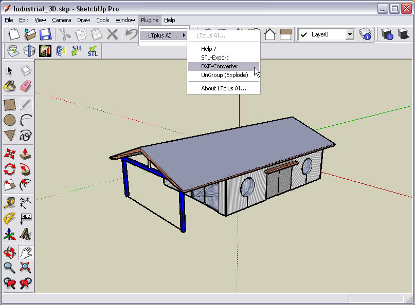 Ltplus google sketchup dxf full windows 7 screenshot for Google sketchup converter